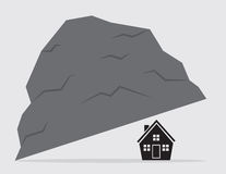House Under Rock Royalty Free Stock Photography