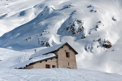 House under snow Stock Photography