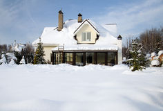 house under snow Royalty Free Stock Images