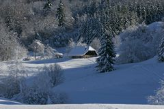 House under snow Royalty Free Stock Photo