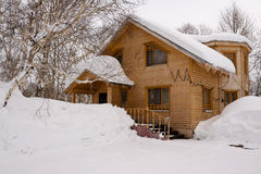 House under snow Stock Image