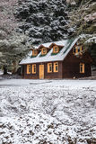House under snow Royalty Free Stock Photography