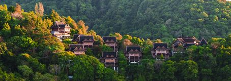 Houses in Langkawi. House under sunrise in Langkawi Royalty Free Stock Photo