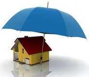 House under an umbrella Stock Photos