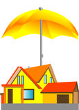 House under the umbrella Stock Photo