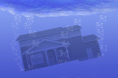House Underwater Stock Photos