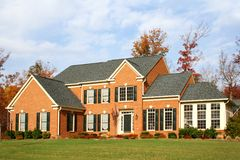 House in US suburb Royalty Free Stock Images