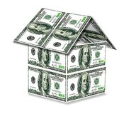 House from USA dollars Stock Images
