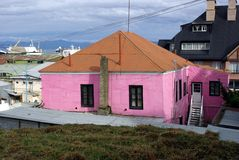 House in Ushuaia Stock Photo