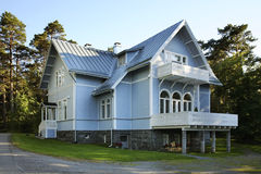 House in Vaasa town. Finland Royalty Free Stock Images