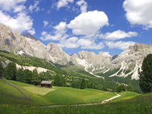 House valley mountain sky dolomites italy royalty free stock image