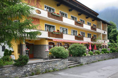 House in Valley Zillertal. Mayrhofen. Tirol. Austria Royalty Free Stock Images