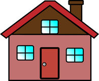 House. The value of The home, the loan on the house Royalty Free Illustration