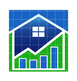 House Value market logo Royalty Free Stock Photography