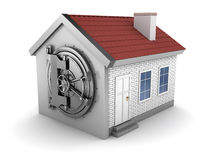 House with vaulted door Stock Photos