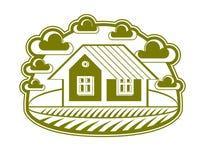 House vector detailed illustration, village idea. Graphic Stock Photos