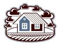 House vector detailed illustration, village idea. Graphic Stock Image