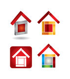 House vector icon set Stock Image