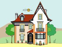 House. Vector illustration of a house, file EPS 8 Vector Illustration