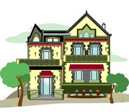 House. Vector illustration of an old house, EPS 8 file Royalty Free Illustration