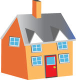 House. A Vector illustration of a two storey house Stock Image