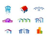 House vector logo design template. town or Stock Photo