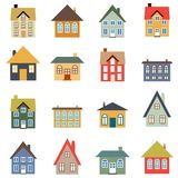 House vector set. Simple home illustration collection Royalty Free Stock Image