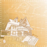 House: vector technical draw Royalty Free Stock Photos