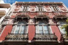 House. Vegueta neighborhood. Las Palmas de Gran Canaria. The Canary Islands. Spain Stock Images