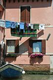 House in Venice. Fassad of apartment building in Venice Royalty Free Stock Image