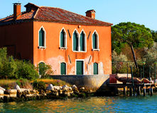 House in the Venice lagoon Stock Photo