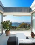 House, veranda overlooking the lake Stock Photo