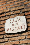 The House of the Vestal Virgins Stock Photography