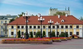 Palace of the Vice-administrator in the center of Grodno royalty free stock images