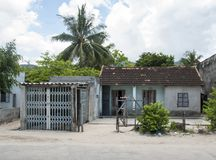 House in the Vietnamese village. Royalty Free Stock Image