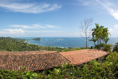 House with view on the ocean royalty free stock image