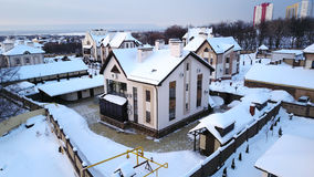 House. The view of private house in winter Royalty Free Stock Photo