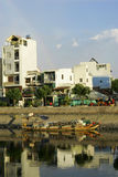 House view from river-side at Ho Chi Minh city Sai Gon Royalty Free Stock Photography