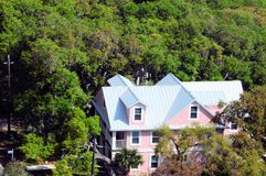 House viewed from lighthouse, Saint Augustine FL Stock Photos