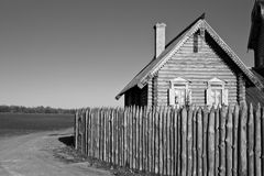 The house in village Royalty Free Stock Image