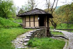 House in the village of Etara in Bulgaria Stock Photo