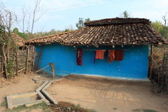 House and Village in India Stock Photography