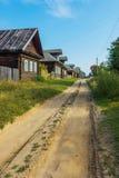 House in the village street. Village Popovka Maksatikhinskiy district of Tver region Royalty Free Stock Image