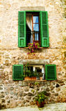 House in village Valldemossa in Mallorca, Spain Royalty Free Stock Image
