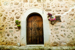 House in village Valldemossa in Mallorca, Spain Royalty Free Stock Photography