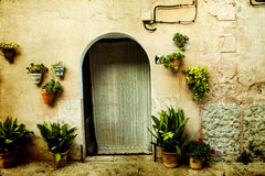 House in village Valldemossa in Mallorca, Spain Stock Photo