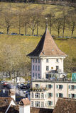 House visible from Nydeggbruecke Bridge in Bern Royalty Free Stock Image