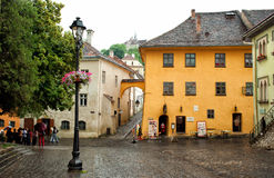 The house of Vlad Dracul in Sighisoara Romania Stock Photos