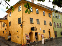 The house of Vlad Dracul in Sighisoara Romania Stock Image