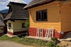House in Vlkolinec Stock Photography